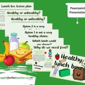 Healthy Lunch Box Powerpoint Presentation