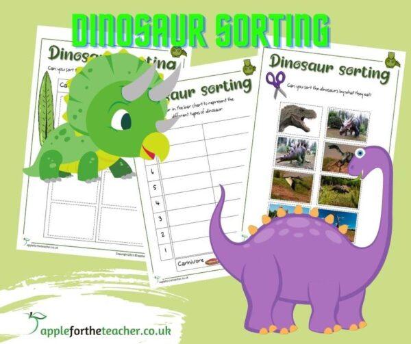 Herbivore Carnivore Dinosaur sorting