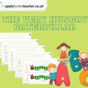 Hungry Caterpillar Alphabet Matching