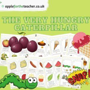 Hungry Caterpillar Story Matching Snap Cards