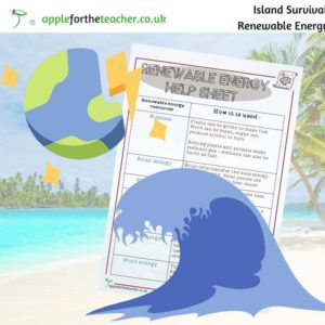 Island survival renewable energy help sheet