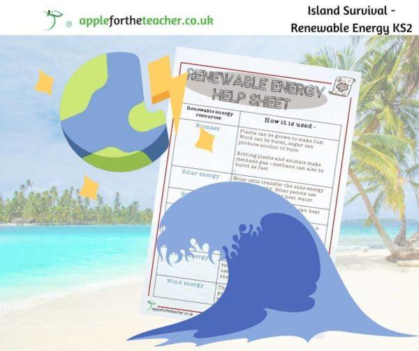 Island survival renewable energy help sheet