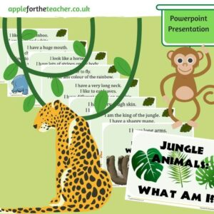 Jungle Animals What Am I Interactive PowerPoint