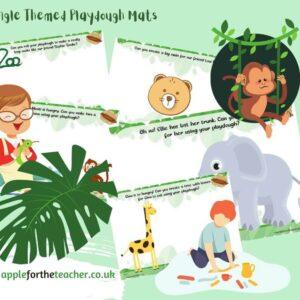 Jungle Themed Playdough Mats