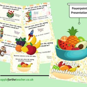 KS1 Fruity Punctuation powerpoint presentation