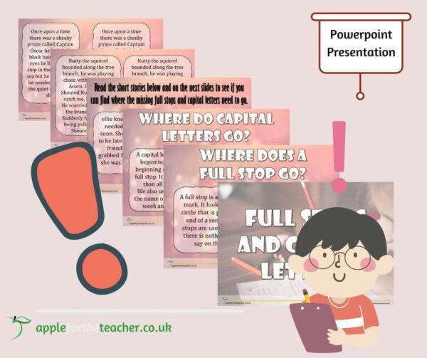 KS1 Full stops and capital letters Powerpoint