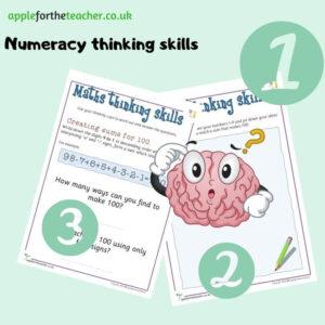Maths thinking skills Making 100