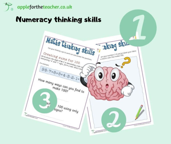 Maths thinking skills Making 100