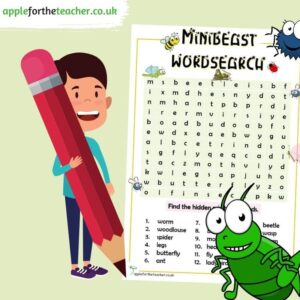 Minibeast wordsearch activity
