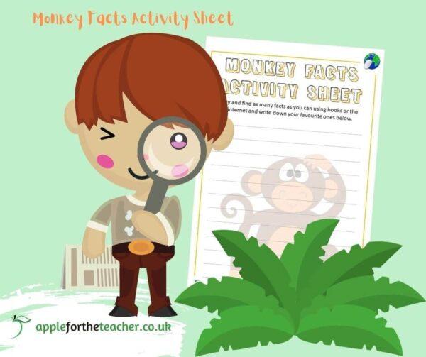 Monkey Facts Activity Sheet