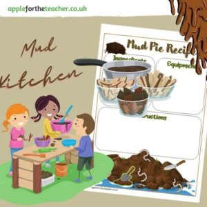 Mud Kitchen Pie Template