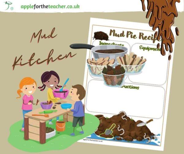 Mud Kitchen Pie Template