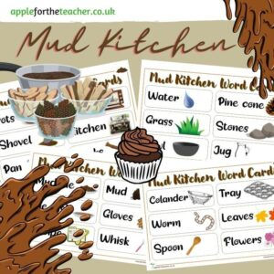 Mud Kitchen Word Cards
