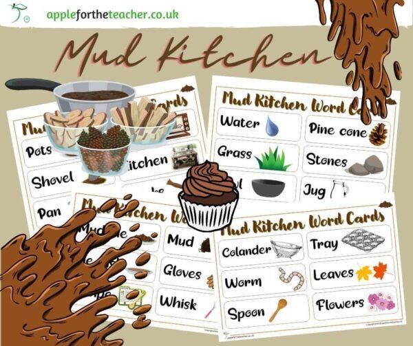 Mud Kitchen Word Cards
