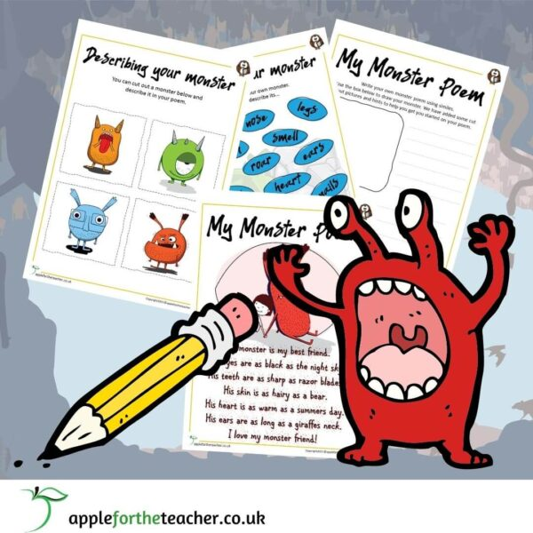 My Monster Simile Poem KS2
