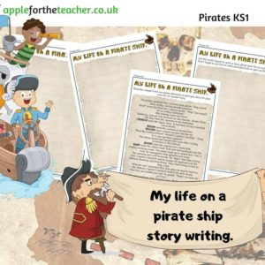 Pirate Ship Reading and Writing Activity