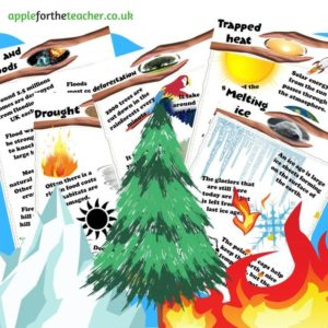 Natural disasters information fact posters