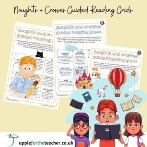 Noughts and Crosses Guided Reading Game