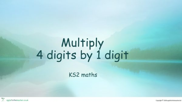 Multiply 4 Digits By 1 Digit With Carrying Powerpoint Presentation