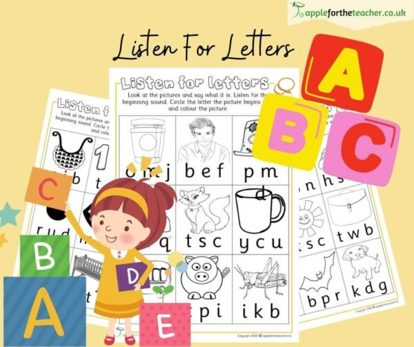 Phonics Initial Sounds Colour and Find