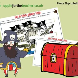 Pirate Ship Labelling Activity