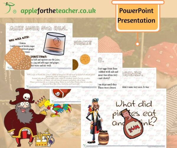 Pirate Food and Drink Powerpoint Presentation