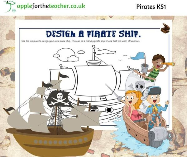 Pirate Ship Design and Colour
