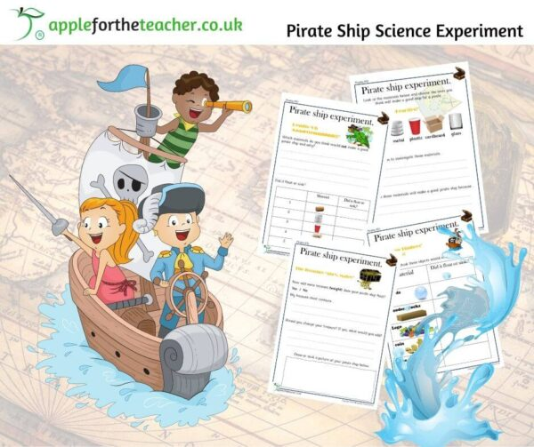 Pirate Ship Sink or Float Experiment