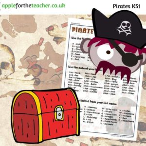 Pirate name finder fun activity
