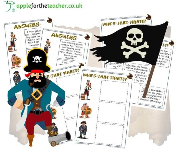 Pirate read and match comprehension