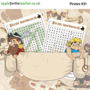 Pirates wordsearch KS1