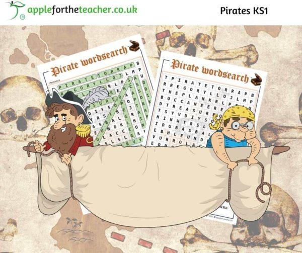 Pirates wordsearch KS1