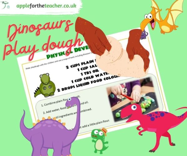 Playdough recipe dinosaurs