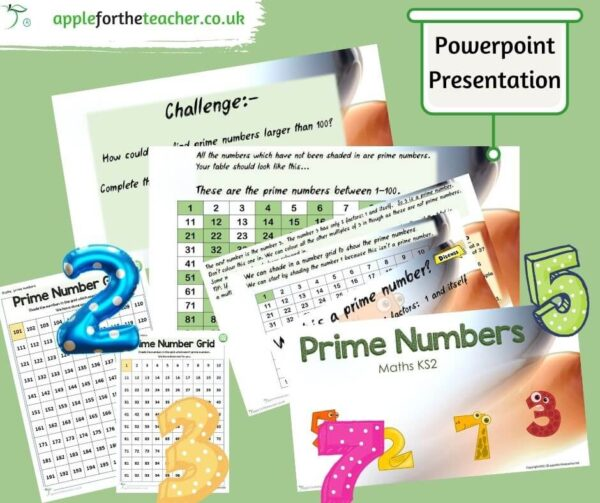 Prime Numbers Powerpoint Activity KS2