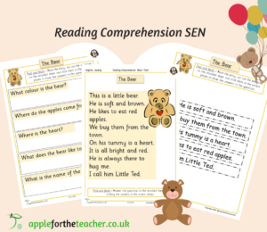 Reading Comprehension The Bear Cut & Stick