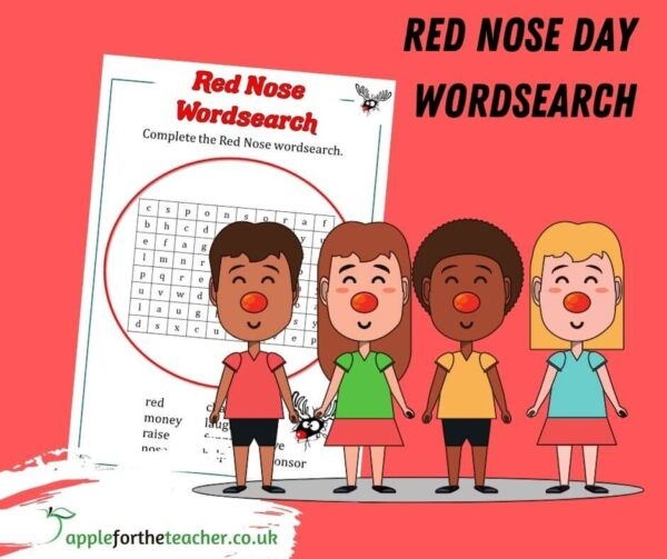 Red Nose Wordsearch
