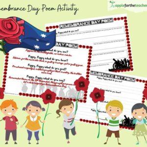 Remembrance Day Senses Poem Poster Activity