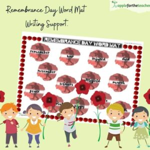 Remembrance Day Word Mat Writing Support