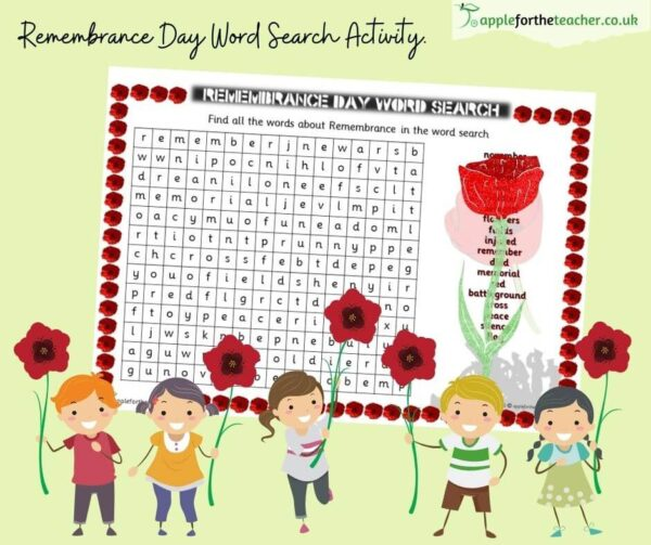 Remembrance Day Word Search Activity