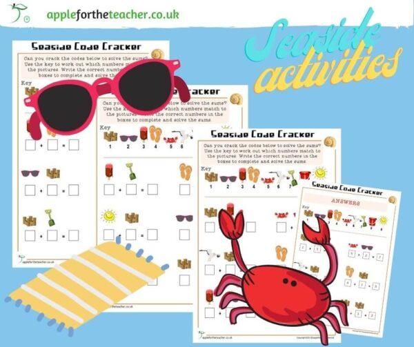 Seaside Code Cracker Activity