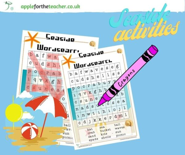 Seaside Wordsearch Activity