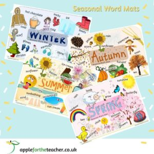 Seasons Word and Picture Mats