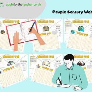 Sensory writing web People
