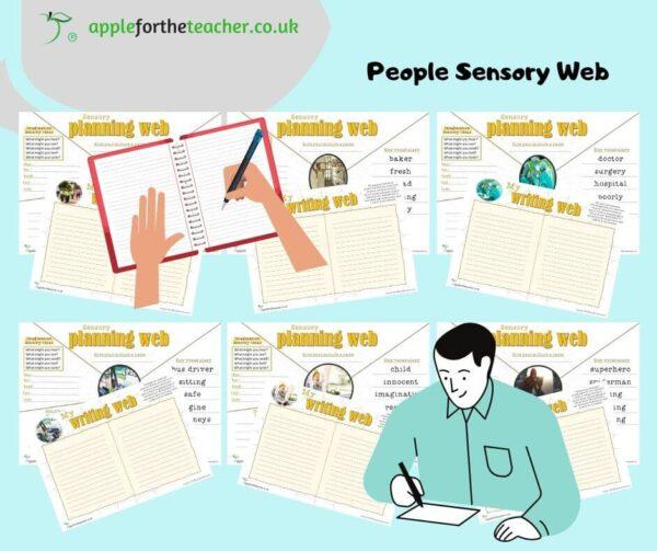 Sensory writing web People