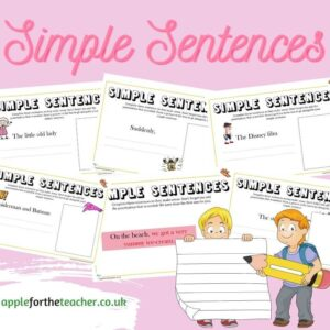 Simple Sentences Writing Activity