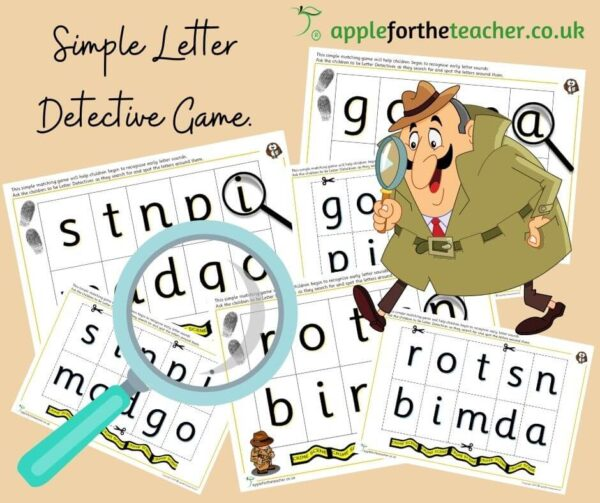 Simple letter matching game