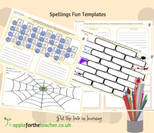 Spellings fun templates