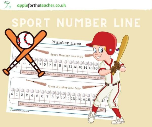 Sports Number Line to 20