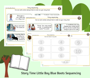 Story Time Little Boy Blue Boots Sequencing
