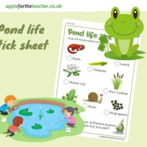 Tick Sheet Pond Life